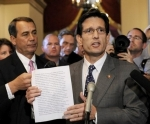 Cantor and Bonior with bogus Republican response